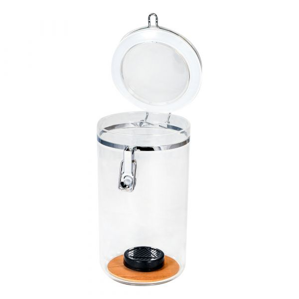 Holds Up to 25 Count Acrylic Humidor Jar Cigar Jar w// Humidifier