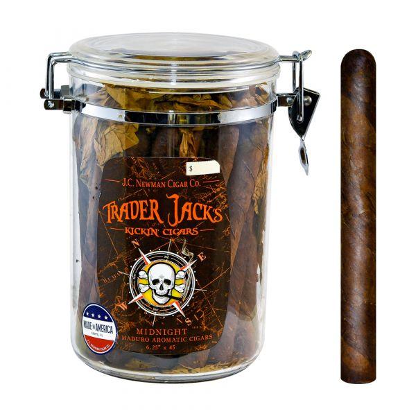 Trader Jacks Kickin' Cigars Midnight Jar Maduro