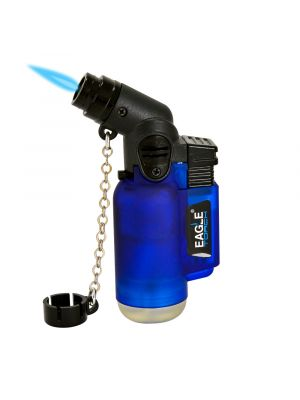 Eagle Angle Single Torch Lighter Blue