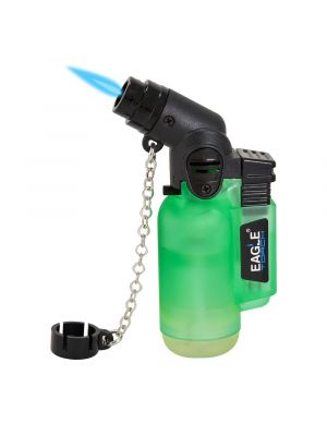Eagle Angle Single Torch Lighter Green