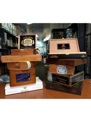 Empty Wood Cigar Boxes